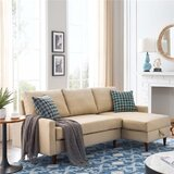 84 Chenille Reversible Sleeper Sofa & Chaise with Ottoman by Corrigan Studio®