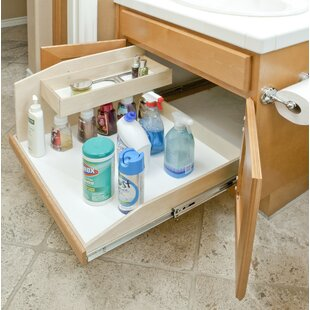 Slide-A-Shelf Full Extension Baltic Birch Sink Caddy Slide-Out Shelf, 15