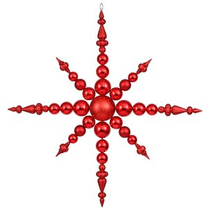 Commercial Sized Shatterproof Radical Snowflake Christmas Ornament