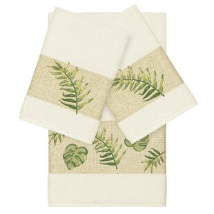 Styles Embellished 3 Piece Turkish Cotton Towel Set