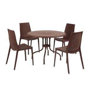 Ebern Designs Weingarten Commercial Grade 5 Piece Dining Chair Set