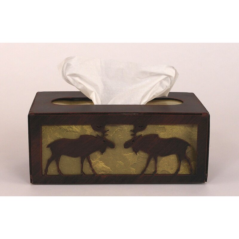 Coast Lamp Mfg Moose Rectangular Tissue Box Cover