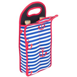 Neoprene Anchor Design Double Wine Bottle Tote