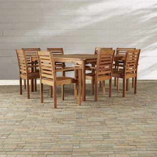 Flinn 9 Piece Dining Set by Beachcrest Home Reviews