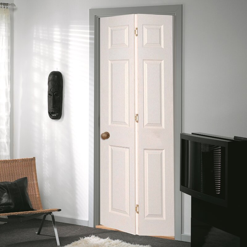 Bostonian Hollow Panelled MDF Bi-Fold Doors & Jeld Wen Bostonian Hollow Panelled MDF Bi-Fold Doors \u0026 Reviews ...