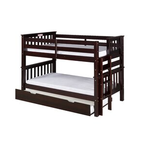 Lindy Mission Twin Over Twin Bunk Bed With Trundle by Harriet Bee No Copoun