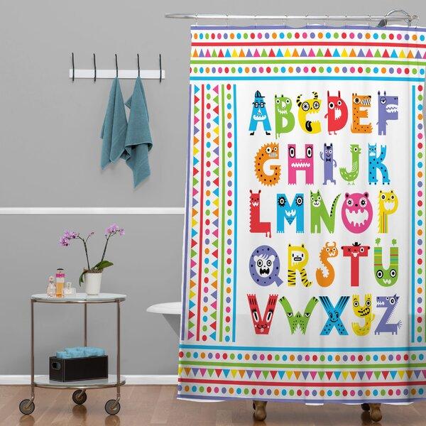 Deny Designs Andi Bird Alphabet Monsters Shower Curtain U0026 Reviews |  Wayfair.ca