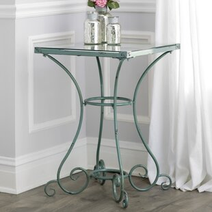 Inexpensive Calais Clock End Table by Lark Manor