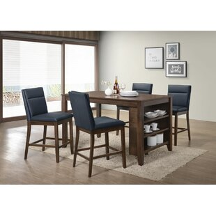 Lawhon 5 Piece Counter Height Pub Table S..