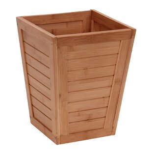 Household Essentials Bamboo 2.9 Gallon Waste Basket