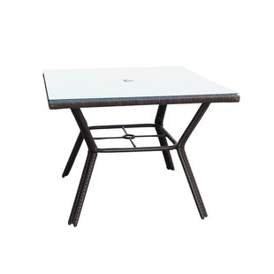 Banbridge  Glass Dining Table by Bay Isle..
