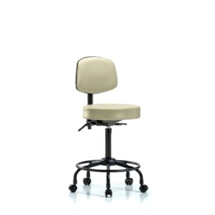 Zachary Round Tube Base Height Adjustable Lab Stool
