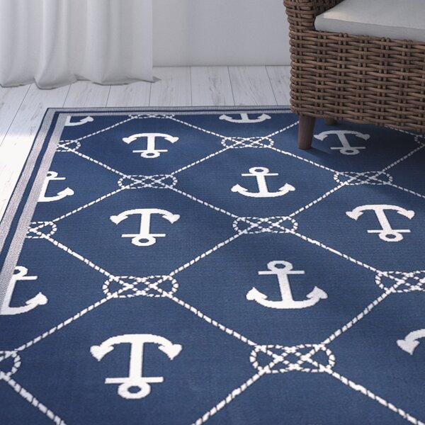 Mariam Anchor Navy/White Indoor/Outdoor Area Rug