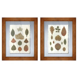 Fall Leaves 2 Piece Framed Graphic Art Set by PTM