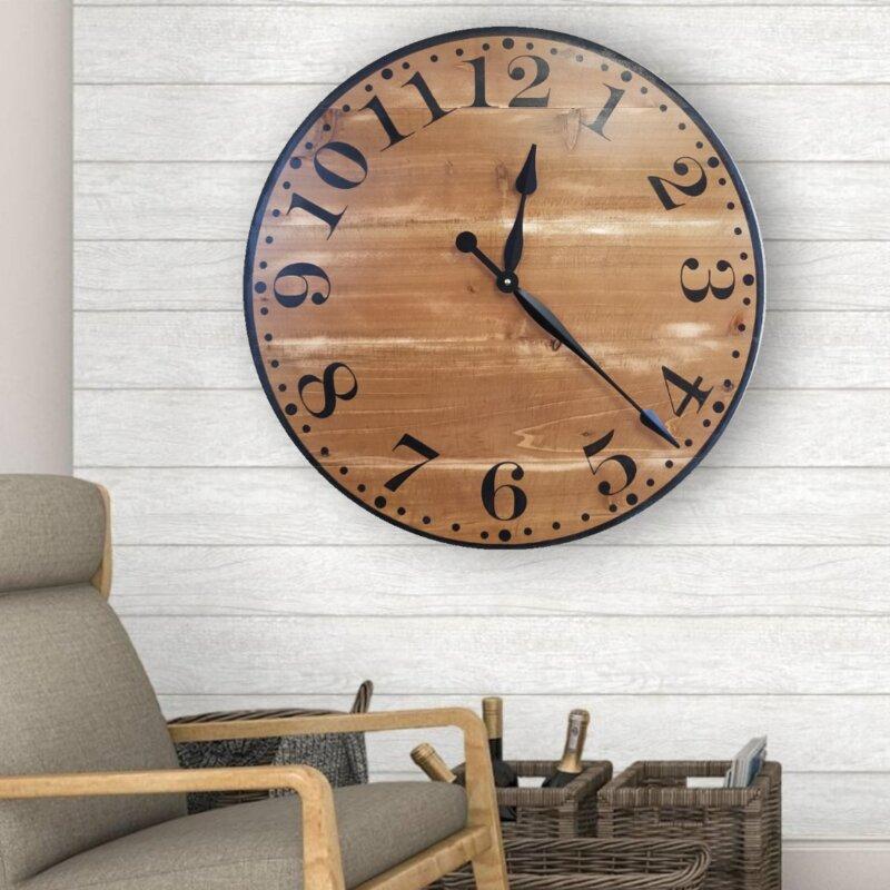 Gracie Oaks Bawtry Wall Clock Wayfair