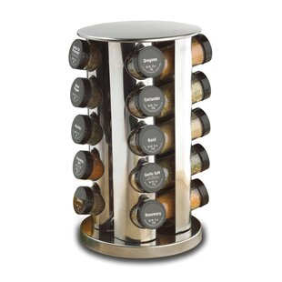 Revolving 20 Jar Spice Jar & Rack Set