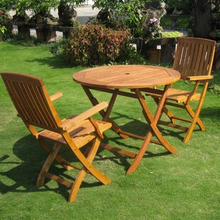 Breakwater Bay Sabbattus 3 Piece Patio Bistro Set