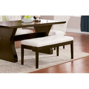 Georgie Button Tufted Upholstered Bench by Charlton Home