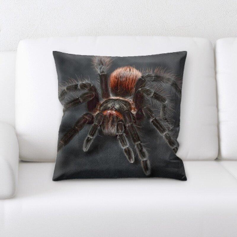 East Urban Home Spider Throw Pillow Wayfair