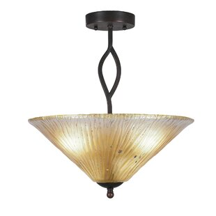 Hiroko 3-Light Semi-Flush Mount by Red Barrel Studio