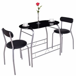 Cherri 3 Piece Dining Set Ebern Designs