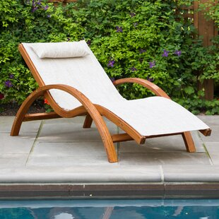 Sling Lounge Chair with Cushion