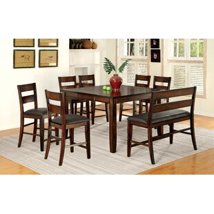 Maliana 8 Piece Pub Table Set Latitude Run