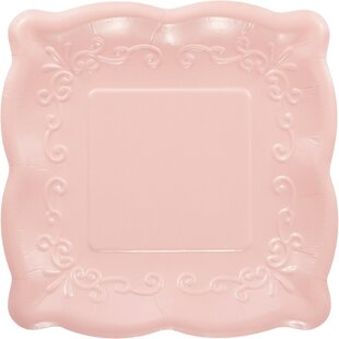 Embossed Paper Dessert Plate (Set of 8)