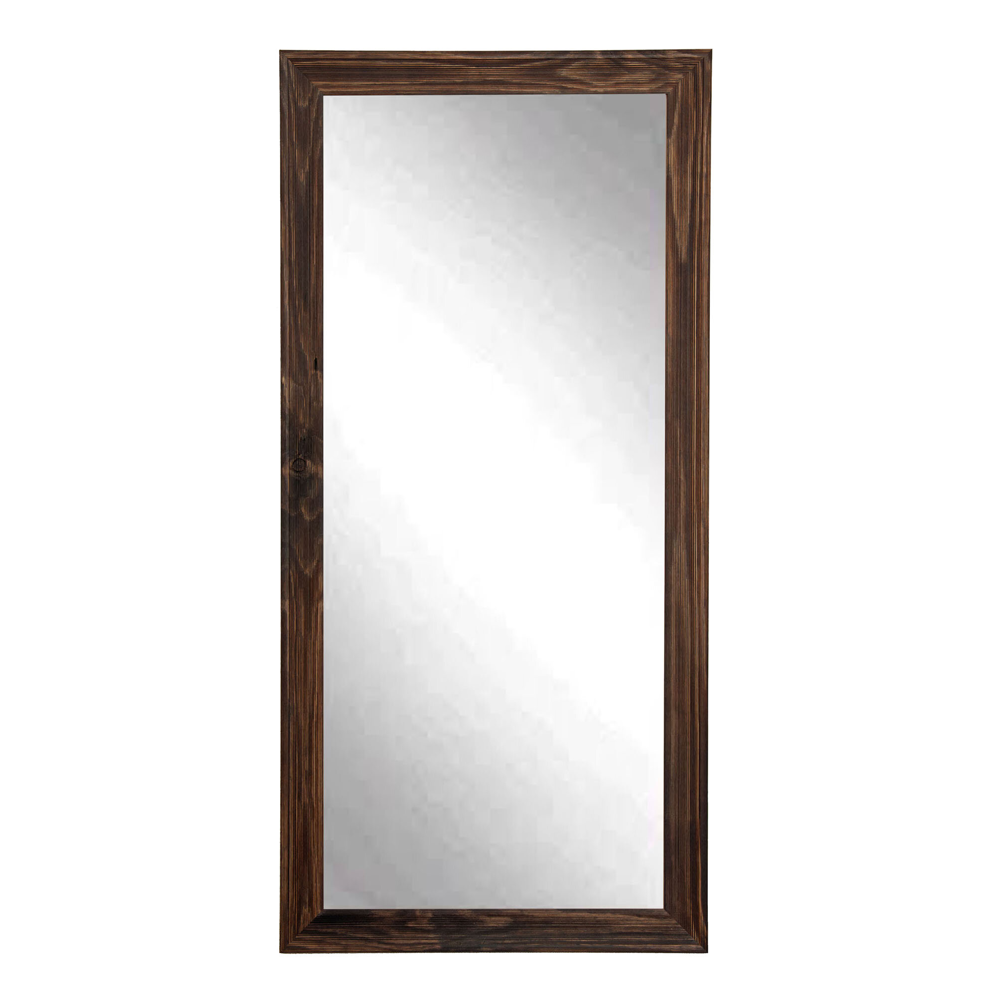 BrandtWorksLLC Espresso Floor Mirror | Wayfair