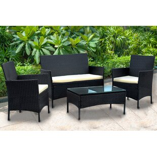 Aryana 4 Piece Sofa Set with Cushions by Andover Mills