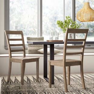 Jarvis Solid Wood Dining Chair (Set of 2) Mistana