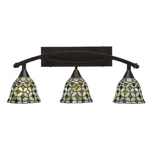 Astoria Grand Austinburg 3-Light Crescent Tiffany Glass Shade Vanity Light