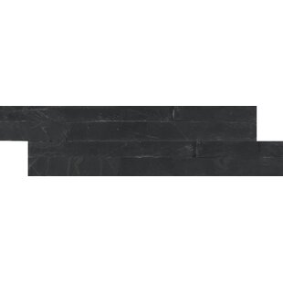 Premium Slate Random Size Natural Stone Splitface Tile in Black
