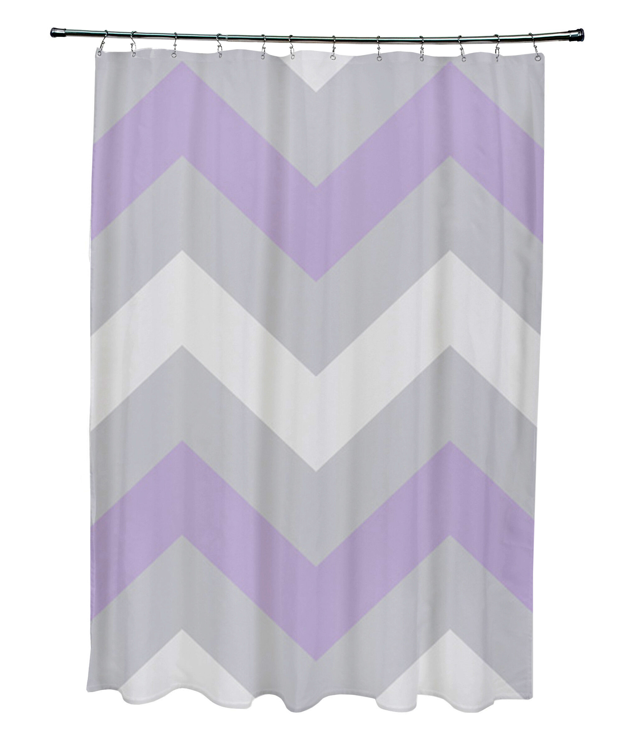 E By Design Geometric Single Shower Curtain Wayfair