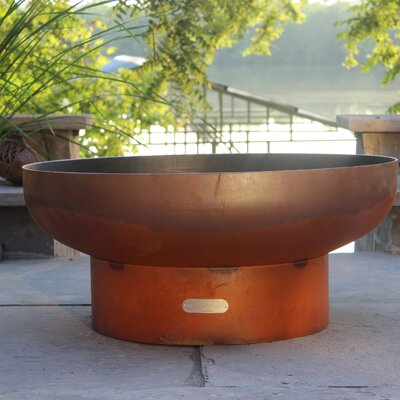 Fire Pit Art Low Boy Steel Propane Fire Pit Ignition: Electronic, Fuel Type: Natural Gas