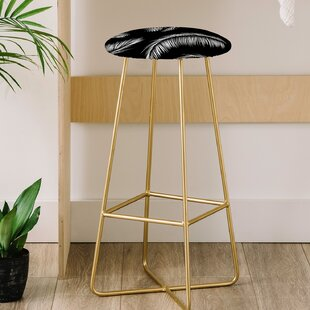 Palm Leaves 30 Bar Stool East Urban Home