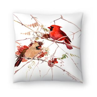 Suren Nersisyan Cardinal Birds Throw Pillow