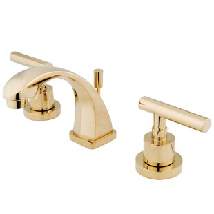 Reviews Manhattan Widespread Bathroom Faucet with Drain Assembly By Kingston Brass