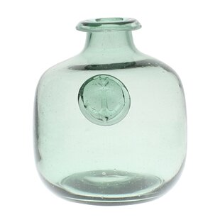 Karp Anchor Stamped Glass Table Vase