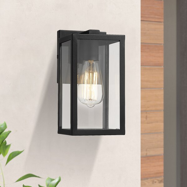 Karamo Black 1- Bulb Outdoor Wall Lantern by Red Barrel Studio®