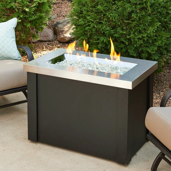 The Outdoor Greatroom Company Providence Metal Gas Fire Pit Table Reviews Wayfair