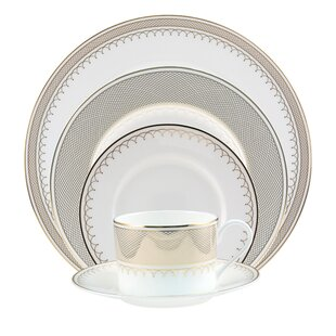 Lattice Bone China 5 Piece Place Setting, Service for 1