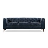 Groovy Blue Leather Sofas Youll Love In 2019 Wayfair Ibusinesslaw Wood Chair Design Ideas Ibusinesslaworg