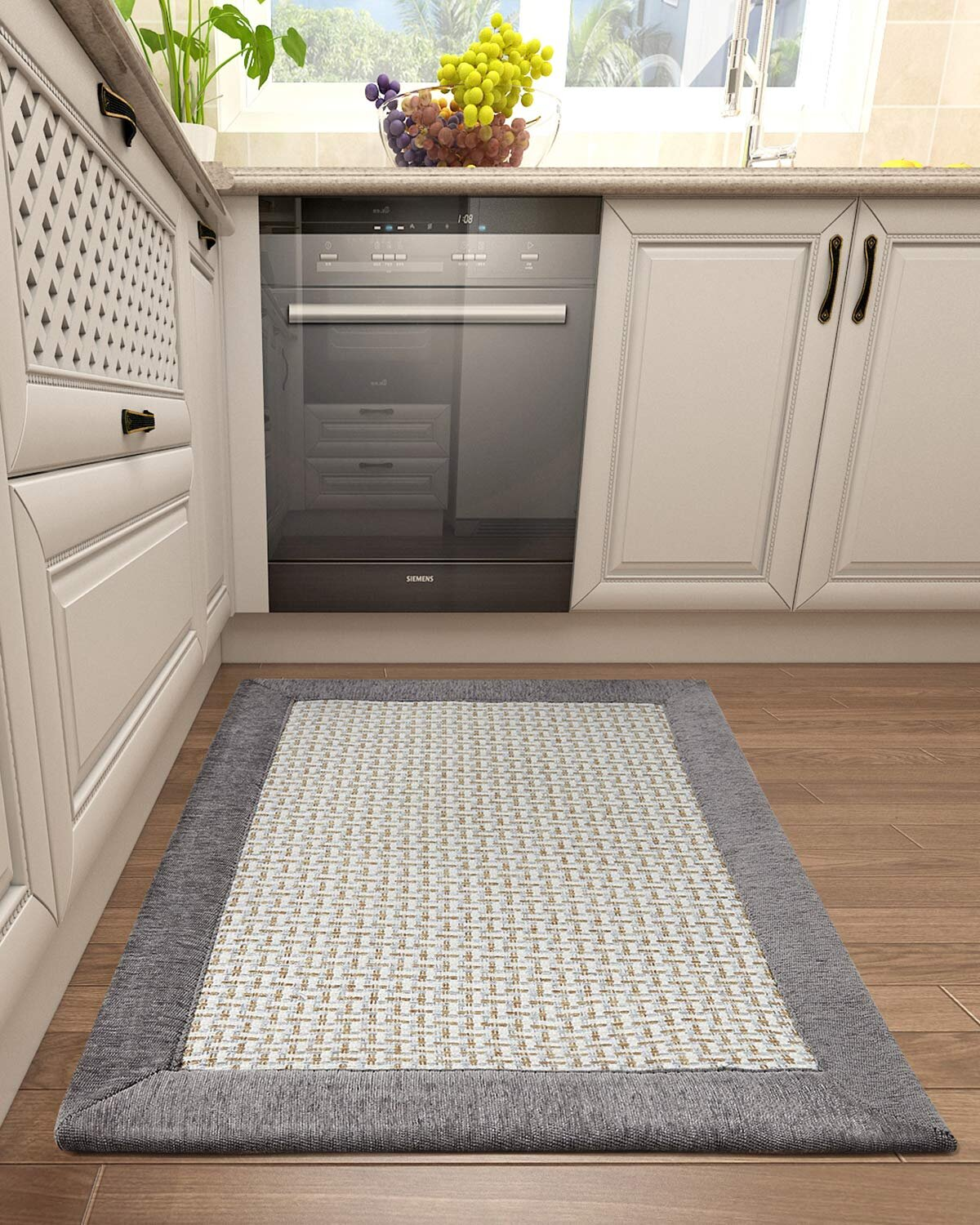 Gracie Oaks Kitchen Floor Mats For In Front Of Sink Kitchen Rugs And Mats Non Skid Twill Kitchen Mat Standing Mat Washable Wayfair