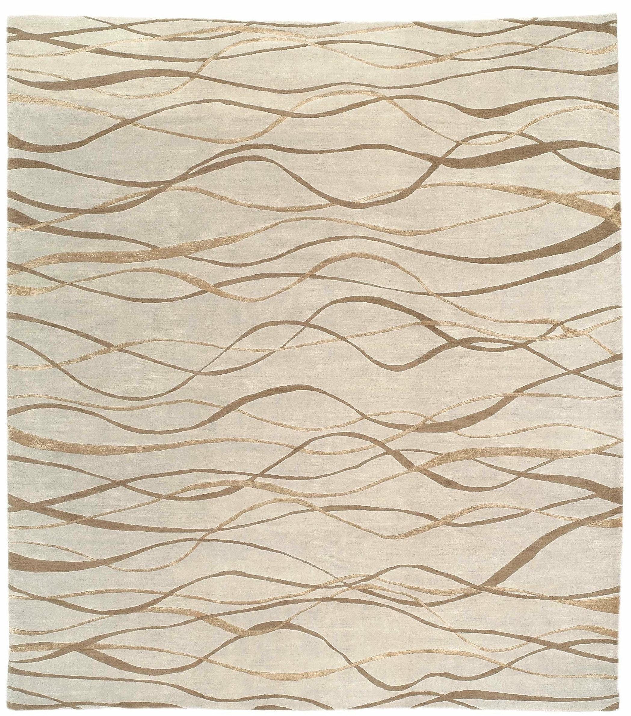 Tufenkian Abstract Hand Knotted Wool Silk Beige Area Rug Wayfair