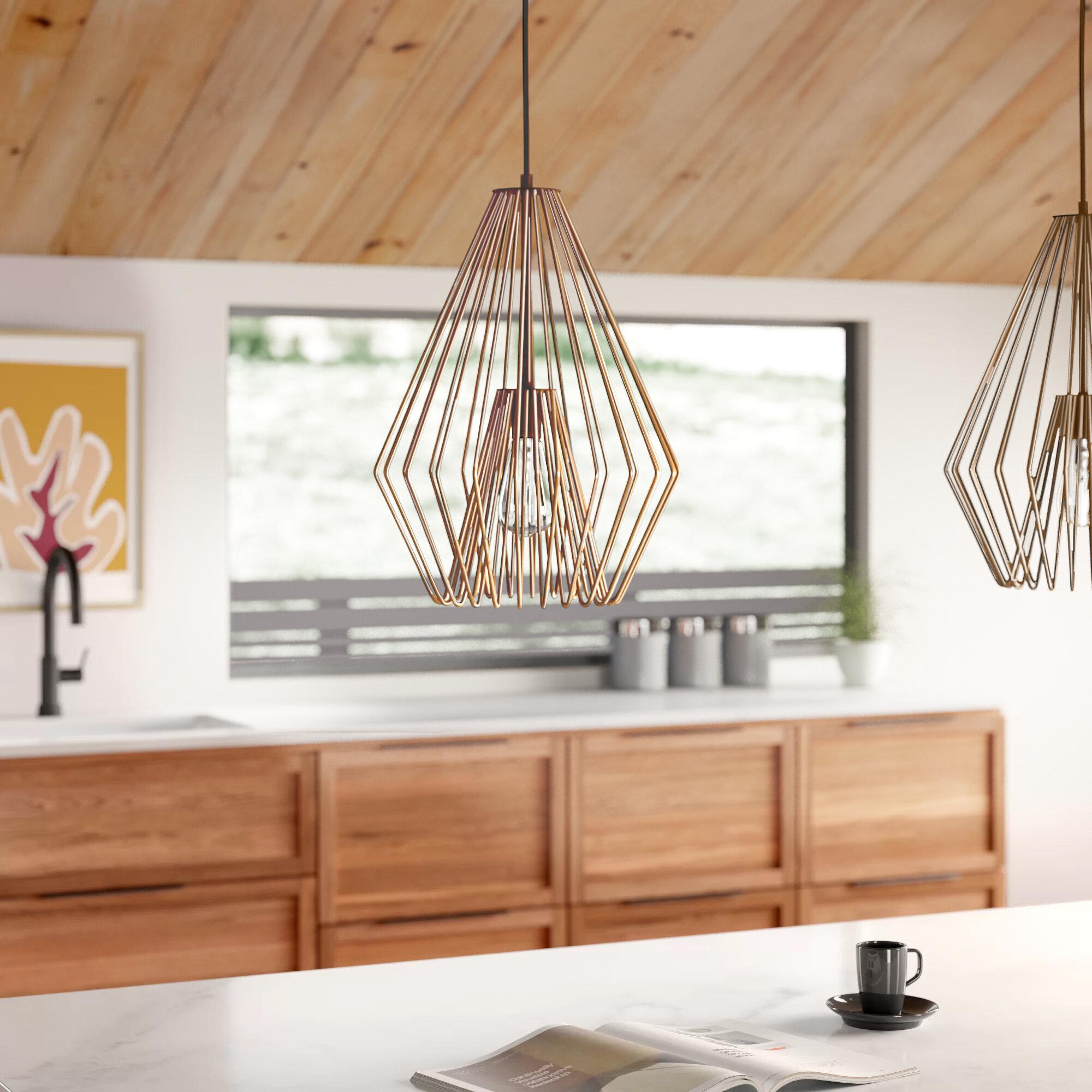 Evelin 1 Light Single Geometric Pendant Reviews Allmodern