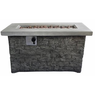 Stone Propane Fire Pit Table By Benjara
