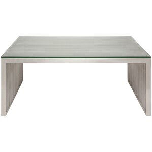 Amici Coffee Table with Tempered Glass Top by Nuevo