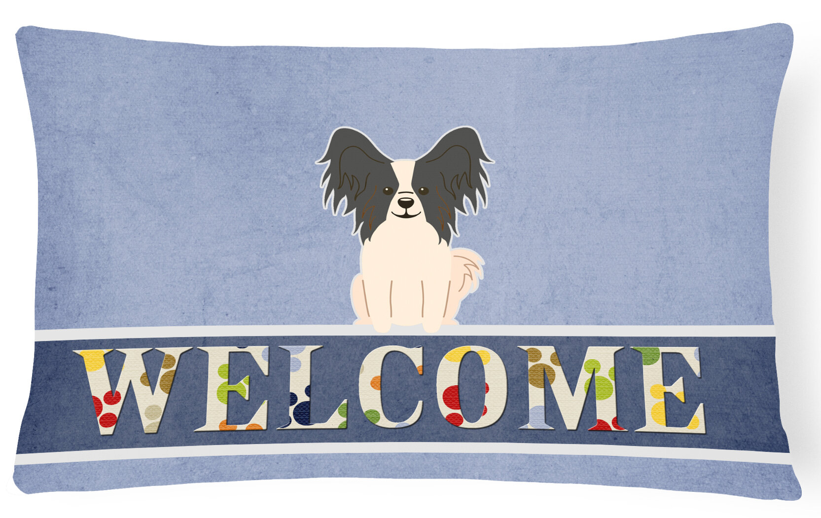 Papillon Group Breed of Dog Themed Cotton Cushion Cover Perfect Gift