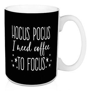 e417eddd2d5 Willem Hocus Pocus I Need Coffee to Focus 15 oz Coffee Mug